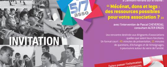 """Le Mécénat au programme du prochain """"5/7 asso"""" du Crédit Mutuel"""